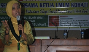 Ketua Kohati PB HMI Fitriani Ismail